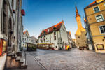 Street view of Tallinn, Estonia.