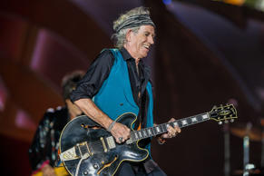 Keith Richards of the Rolling Stones performs at the Indianapolis Motor Speedway on July 4, 2015 in Indianapolis, Ind.