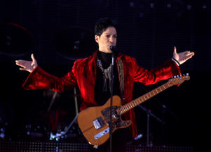 Prince performs on the main stage during Budapest's Sziget music festival on an island in the Danube River August 9, 2011.