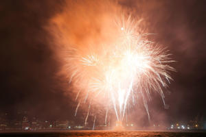 Three people have been injured setting off fireworks.