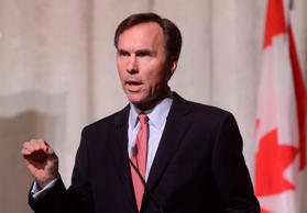 Bill Morneau pictured during a federal election debate hosted by The Centre for Israel and Jewish Affairs (CIJA) and the UJA Federation of Greater Toronto in Toronto, Wednesday, Sept, 30, 2015.