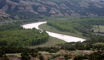 Little Missouri River in Thodore Roosevelt National Park in the Badlands of North Dakota, in 2014.
