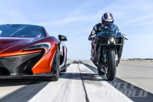 McLaren P1 and Kawasaki Ninja H2 at our 0-180 MPH Ultimate Performance Shootout
