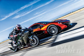 Kawasaki Ninja H2 and McLaren P1 at our 0-180 MPH Ultimate Performance Shootout