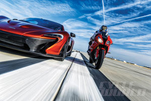 McLaren P1 and BMW S1000RR at our 0-180 MPH Ultimate Performance Shootout