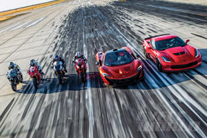 Superbikes vs. Supercars at our 0-180 MPH Ultimate Performance Shootout