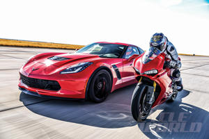 Chevrolet Corvette Z06 and Ducati 1299 Panigale S at our 0-180 MPH Ultimate Performance Shootout