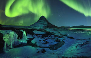Freezing Kirkjufell and Aurora Storm in Iceland
