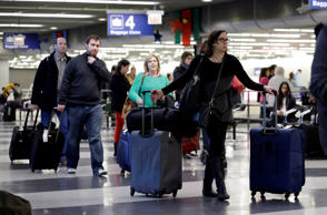 Passengers at the O'Hare International airport in Chicago. File photo.