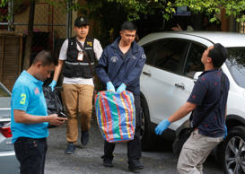 Thai police raided an apartment in suburban Bangkok and arrested a foreigner with a fake Turkish passport and bomb-making materials.