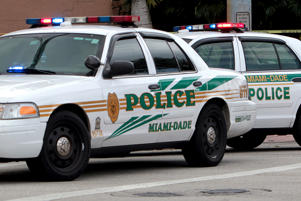 File photo of Miami-Dade police cars in West Kendall, Fla.