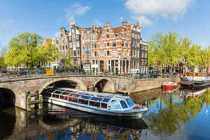 Canal & Boat, Amsterdam, Holland, Netherlands