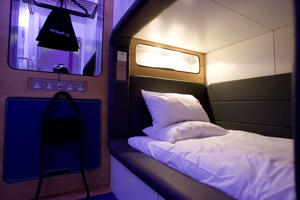 The Standard Cabin of the new Japanese-style Yotel at Gatwick airport, Gatwick, UK.