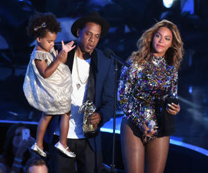 Jay Z, daughter Blue Ivy Carter and Beyonce.
