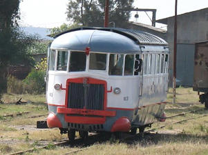 Littorina railcar at Asmara station, Eritrea.