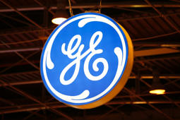 The logo of General Electric in Paris. William Nelson was a GE employee when he died in a crash in 1903.