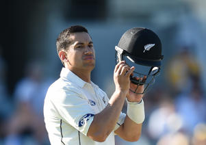 Ross Taylor batting for the Black Caps