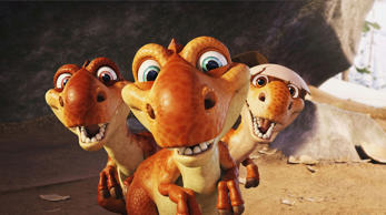 Manny and Diego, along with Ellie and her brothers, have to go to find Sid after he is captured by a Tyrannosaurus who was looking for her babies and found Sid playing with them. On the way they meet Buck, a weasel, who is hunting Rudy, a huge Baryonyx. This highest-grossing Ice Age installment became the seventh highest grossing-animated film of all times.