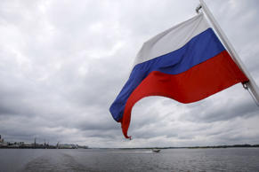 A Russian flag flies over the Volgarive in the town of Nizhny Novgorod, Russia. File photo.