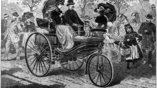 No look at the top 100 German cars would be complete without the Benz Patent Motorwagen. It's widely regarded as the first automobile and it was completed in 1886. The world's first long-distance journey - from Mannheim to Pforzheim - took place in 1888.