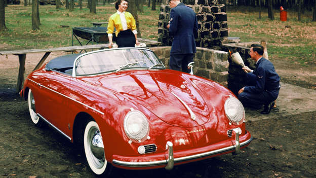 Ironically, the Speedster was designed as a 'budget' 356, stripped of standard equipment and featuring a cut-down windscreen that could be removed for racing. However, the car's sleek, low-slung style means it is now the most sought-after (and valuable) of 356s today. Porsche later resurrected the Speedster name on the 911.
