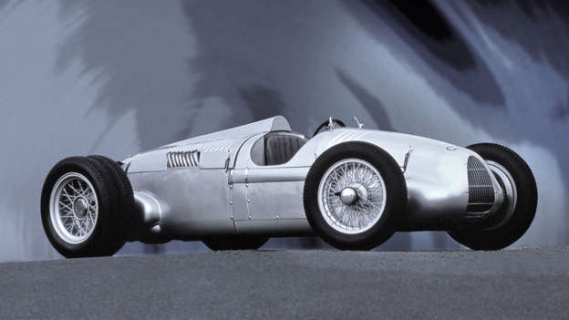 The Auto Union race cars - types A to D - were the hugely successful racing cars that went head-to-head with the famous Mercedes-Benz Silver Arrows. Early cars featured V16 engines, which were later replaced with V12s.