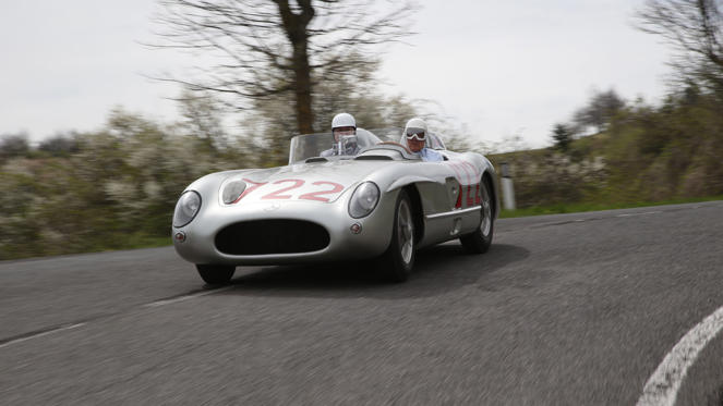 The Mercedes-Benz 300 SLR is a racing car steeped in history, most commonly associated with Stirling Moss and the Mille Miglia. There was also an 'Uhlenhaut Coupe' version, a hardtop racing car built for the 1956 season. Sadly it never saw competition use and instead became the personal transport of designer and motorsport chief, Rudolf Uhlenhaut.