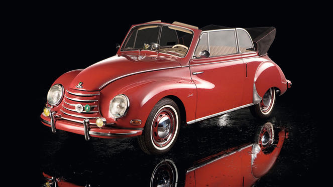 The DKW Sonderklasse - or 3=6 - was a front-wheel drive saloon car launched at the 1953 Frankfurt Motor Show. The Auto Union car went head-to-head with the Volkswagen Beetle.