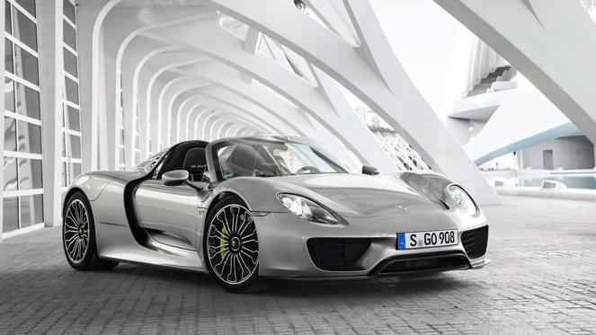 If you hear the word 'hybrid' and picture a Toyota Prius, think again. The 918 Spyder harnessed battery technology, plus the small matter of a 608hp V8 engine, to deliver gobsmacking levels of go. Porsche's fastest road car hits 62mph in 2.5 seconds and doesn't stop until 210mph.