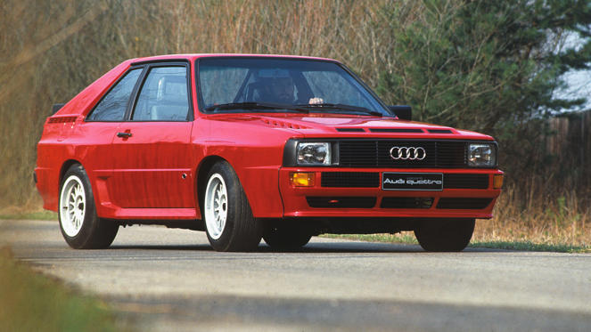 This was the road-going version of the Group B WRC quattro, with 200 built to meet homologation rules. The shortened wheelbase gave the Sport Quattro its unique looks.