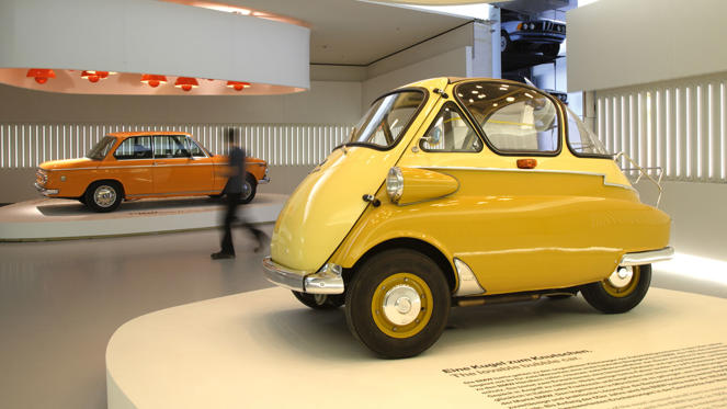 The Isetta was an Italian-designed microcar built under licence in many countries, including Germany. BMW made the design its own, first with the 250 and later the 300 and 600. The first BMW Isetta rolled off the production line in April 1955 and 10,000 units were produced in just eight months.