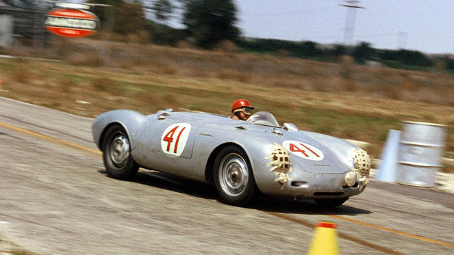 Just 90 Porsche 550 Spyder were built and the most famous is unquestionably the one in which James Dean met his untimely end. It take attention away from what a great racer the lightweight Spyder was; today, the 550 (and Dean) are still remembered by innumerate custom-built replicas.