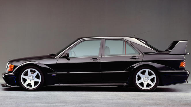 The Mercedes-Benz 190E 2.3-16 felt like a DTM touring car for the road and it went into battle with the BMW M3 and Ford Sierra RS Cosworth. The Evolution I and II models feature the wild styling to go with the electrifying pace.