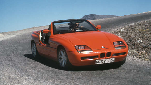The BMW Z1's standout feature has to be its doors, which drop down into the sills. The Z1 handled well and was powered by the same engine you'd find in the BMW 325i.