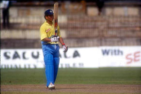 16-year-old Sachin's first run in One Day Cricket