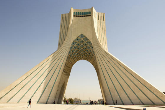 Tehran, Iran – October 1, 2013: Image Azadi Tower in the Iranian capital Tehran, It is the most important monument in Iran and also called Statue of Liberty, It is a place for military reviews and protests in Iran.