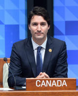 Prime Minister Justin Trudeau takes part in a plenary session at the APEC Summit in Manila, Philippines