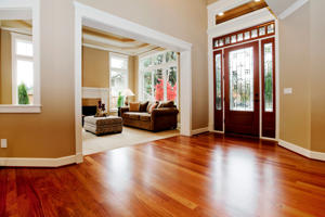 Beautiful New custom Entryway upscale home hardwood floors