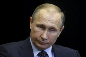 "Russian President Vladimir Putin attends a meeting with Jordan's King Abdullah at the Bocharov Ruchei state residence in Sochi, Russia November 24, 2015. Speaking before a meeting with Jordan's King Abdullah, Putin called Turkey's downing of a Russian fighter jet ""a stab in the back"" carried out by the accomplices of terrorists, saying the incident would have serious consequences for Moscow's relations with Ankara."