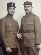 Jakob Engelberg and his brother Heniu in their World War I Army uniforms.