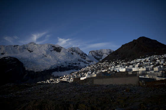 The Sleeping Beauty glacier lays above the Peruvian gold rush town of La Rinconada which stands at an elevation of 5,200m. (Photo by Lucas Oleniuk/Toronto Star via Getty Images)