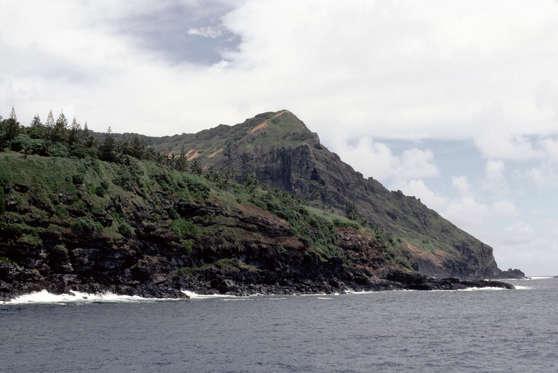 PITCAIRN - 1987/01/01: Pitcairn Island,coastline View From Sea. (Photo by Wolfgang Kaehler/LightRocket via Getty Images)