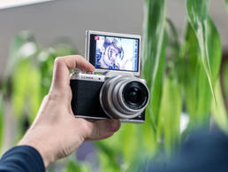 Panasonic's entry-level camera is for serious selfies.