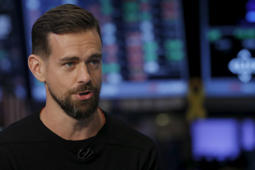 Jack Dorsey, CEO of Twitter, speaks during an interview with CNBC November 19, 2015.