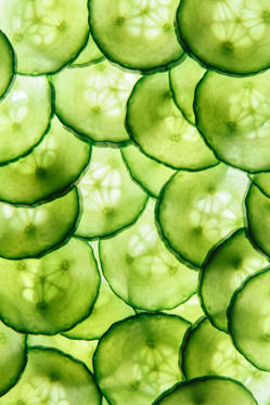 "<p>Think of this veggie as a tall drink of water, but with a satisfying crunch. Hydration is an essential part of maintaining beautiful skin, and cukes happen to be made up of about 96 percent water— more than most solid foods, including watermelon. They also contain silica, a nutrient that aids your body in producing hyaluronic acid. ""This compound helps cells retain moisture so your skin appears plump and fresh,"" says Hellman. Toss 1 cup of chopped cucumbers with quinoa, tomatoes, and parsley for a filling grain salad. </p>"