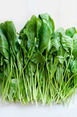 "<p>You're probably already aware that the craze around spinach has to do with its <a href=""http://www.redbookmag.com/body/health-fitness/advice/g2116/the-healthiest-superfoods/"">""superfood"" properties</a>—namely, its high content of the vitamin A precursor, beta-carotene. Adding a cup of spinach to your omelet every morning will allow your body to utilize the vitamin A to <a href=""http://www.redbookmag.com/body/healthy-eating/advice/g1258/anti-aging-foods/?slide=6"">fight off free radicals</a> and <a href=""http://www.redbookmag.com/perfect-skin/"">prevent skin damage</a>. </p>"