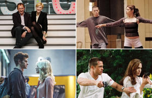 Real-life couples on stage and screen