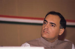 File: Rajiv Gandhi, former Prime Minister of India.