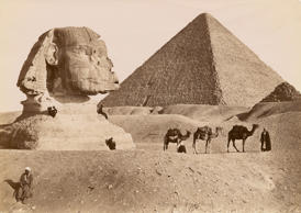 Sphinx and the Grand Pyramid