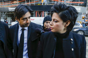 Jian Ghomeshi, a former celebrity radio host who has been charged with multiple counts of sexual assault, arrives for his first day of court alongside his lawyer Marie Henein (R), in Toronto, February 1, 2016. Ghomeshi, 48, former host of the internationally syndicated music and arts program Q on Canadian Broadcasting Corp radio, is pleading not guilty to four counts of sexual assault and one count of overcoming resistance by choking, according to local media reports.